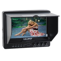 "Lilliput 665GL-70NP/H/Y 7"" LCD Monitor Video DSLR Camera Field Monitor HDMI Input"