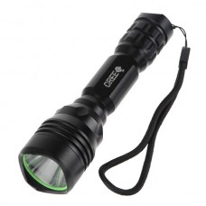 Smile Sun M9 Q5 LED Flashlight Torch with Strap 1*18650-Grey