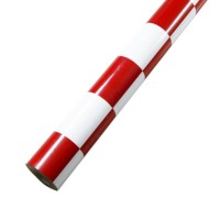 60 x 200 cm Heat Shrink Film Heat Shrinkable Membrane for Multicopter-Red and White Grid