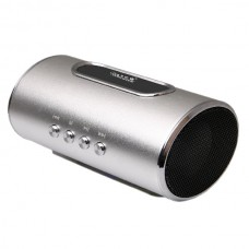 N60 Mini LoudSpeaker Rechargeable Mini Portable Speaker Micro SD Card MP3 Loudspeaker-Silver