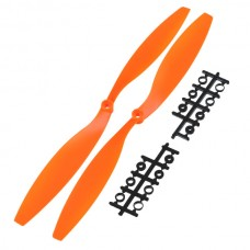"12x4.5"" 1245 1245R CW/CCW Blade Rotating Propeller For MultiCoptor-Orange"