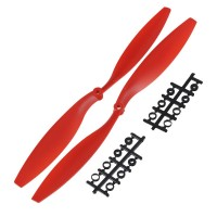 "12x4.5"" 1245 1245R CW/CCW Rotating Propeller For MultiCoptor-Red"