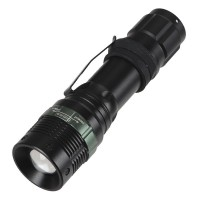 Super Bright Gree LEDTorch with Dimmer & Clip 3xAAA Waterproof  Flashlight