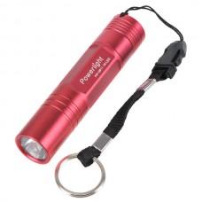 Powerlight HX-G011 High Brightness Aluminum Alloy LED 1W Flashlight Torch  1 x AA-Red