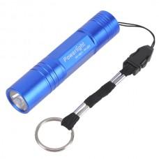 Powerlight HX-G011 High Brightness Aluminum Alloy LED 1W Flashlight Torch 1 x AA-Deep Blue