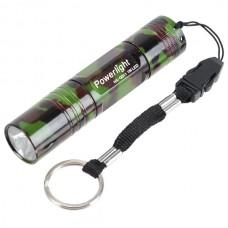 Powerlight HX-G011 High Brightness Aluminum Alloy LED 1W Flashlight Torch 1 x AA-Camouflage