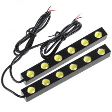 6W LED Lamp Waterproof Daytime Running Light for Automobiles and Motorcycles 2PCS