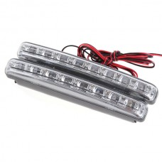 8 LED Lamp Waterproof Daytime Running Light for Automobiles and Motorcycles 2PCS