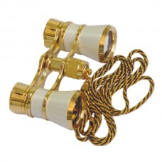 Opera Glasses Lady Gift Binocular with Metalic Gold Plating Chain