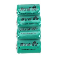 4 PCS Ultrafire CR2 3.0V 15270 800mAh Battery