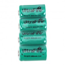 4 PCS Ultrafire CR2 3.0V 15270 800mAh Battery