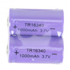 2PCS 16340 123A CR123A 1000mAh Rechargeable Battery 3.7V
