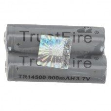 2PCS Grey Trustfire 14500 900mAh 3.7V Protected Li-ion Rechargeable Battery