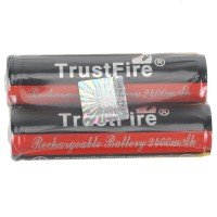 2PCS TrustFire 18650 2400mAh 3.7V Rechargeable Li-ion Battery