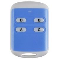 4Channel Universal Long Distance Wireless 4 Keys ABS Remote Controller Blue