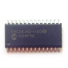 2 PCS ENC28J60-I/SO ENC28J60 SOP-28   Stand-Alone Ethernet Controller with SPI Interface