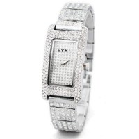 EYKI Lovely Lady Wristwatch Woman Quartz Watch With Diamond White