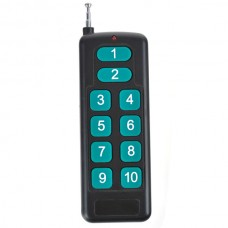 Universal RF Long Distance Wireless 10 Button Metal Remote Controller with Keychain Key Ring