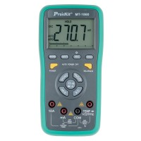 3-5/6 Dual Display DMM w/ USB Connector with Key Touching Automatic Range Multi-function Digital Multimeter MT-1860