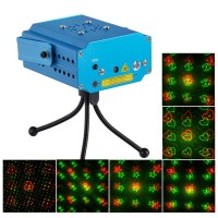 MN001-D6E R/G Stage Laser Light Projector+Laser Stage Lighting +Tripod+AC Power Supply