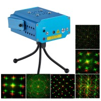MN001-D4X R/G Stage Laser Light Projector+Laser Stage Lighting +Tripod+AC Power Supply