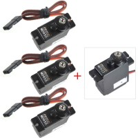 HENGE MD933 (3-Pack) +1 MD922 (1-Pack) MG Digital Metal Gear Servo for TREX 450