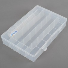 X-LargeTransparent 24 Slots Storage Box Tool Kit Case Miyo Detachable Multi-function Box