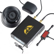 TK106B GPS GSM Tracker Car Alarm with Camera Shock Sensor TF Card Storage