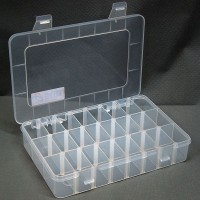 Transparent 24 Slots Storage Box Tool Kit Case Miyo Detachable Multi-function Box