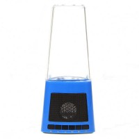 Portable Fountain Style Music Speaker Mp3 Player AuX-in/USB 2.0/SD Blue