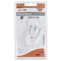 MC Saite Optical Mouse with Retractable Cable White