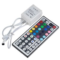 44-Key IR Remote Controller for RGB LED Light Strip 12V Common Anode