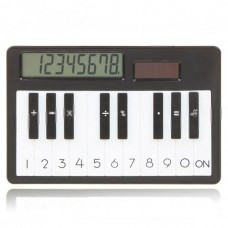 Solar Powered  Mini Piano Type Simple Calculator 5 Colors avli.