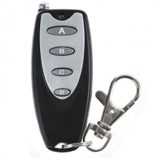Universal Long Distance Wireless 4 Button Metal Remote Controller with Keychain Key Ring