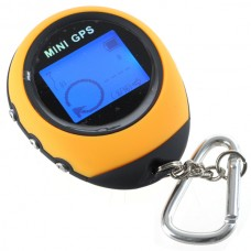 "USB Rechargeable 1.4"" LCD 65-Channel Mini GPS Receiver with Carabiner (WAAS/EGNOS)"