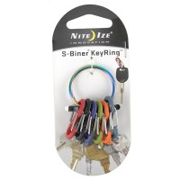 Nite Ize Colorful Stainless Steel Key Rack Biner Blk with Key Ring