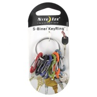 Nite Ize Stainless Steel Key Rack Biner Blk with Key Ring