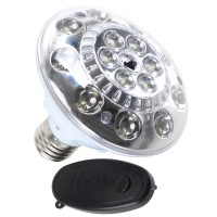 White Light Lamp Bulb with Remote Controller with Automatic emergency illumination function