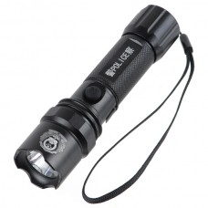 Power Style LED 180 Lumen Rechargeable Flashlight Torch w/ Charger