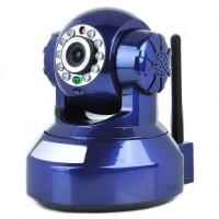 H.264 300KP Wireless IP Camera IR Night Vision WiFi WLAN Blue