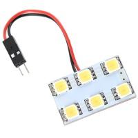 Car Interior Roof Reading Light Bulb 5252 SMD 6-LED White