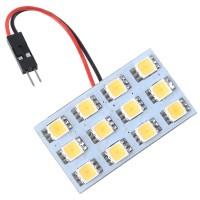 Car Interior Roof Reading Light Bulb 5252 SMD 12-LED White