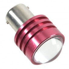 1W Car Turning Signal Light LED Bulb Lamp w/ Convex Lens Red