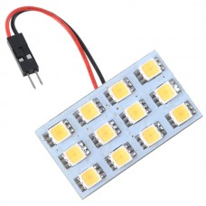 Car Interior Roof Reading Light Bulb 5252 SMD 12-LED Warm White