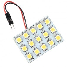 Car Interior Roof Reading Light Bulb 5252 SMD 15-LED Warm White