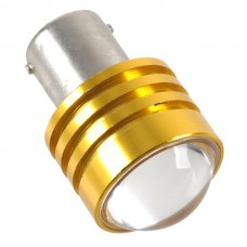 1W Car Turning Signal Light LED Bulb Lamp w/ Convex Lens Yellow