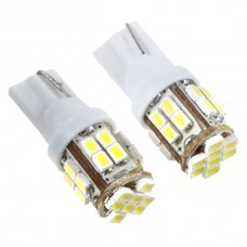 T10 Vehicle Car Signal Bulb 3020 SMD  24LED White Light Lamp DC12V 2pcs