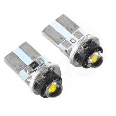 T10 Vehicle Car Signal Bulb 1W High Power LED 12V White Light 2pcs