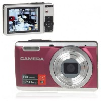 DC-E80 5MP CMOS Digital Camera Anti-Shake Camcorder 8X Digital Zoom SD Carmera