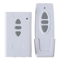 3-Way 3CH ON-OFF Wireless RF Wall Switch w/ Remote Control